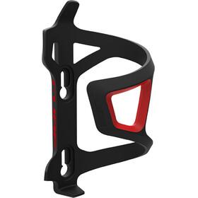 Cube HPP Left-Hand Sidecage Flaschenhalter schwarz/rot